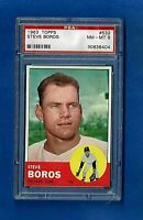 1963 TOPPS BASEBALL #532 STEVE BOROS PSA 8 NM-MT HIGH NUMBER CHICAGO CUBS