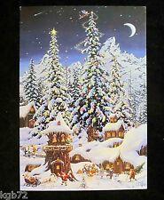 Leanin Tree Christmas Greeting Card Santa House Snow Multi Color C29