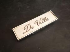 67 Cadillac Deville Dashpad Nameplate Script Emblem