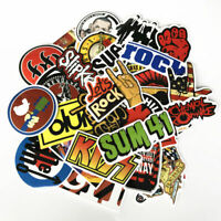 52pcs Rock Stickers Metal Punk Bands Guitar Car Music Decals Stickerbomb Phone