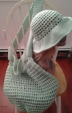Crochet Mellon Mesh Hat/Bag set