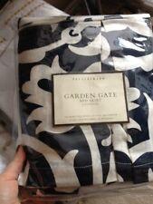 Pottery Barn Garden Gate Bedskirt Blue California King Bed Skirt Dust Ruffle