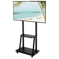 "Adjustable TV Stand Mobile Cart Mount Wheels for Plasma LED Flat Screen 40- 80"""