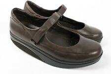 MBT Sirima Chocolate Dark Brown Leather Mary Jane Rocker Walking Shoes Women 9.5