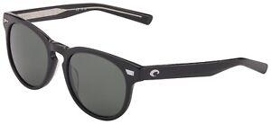 Costa Del Mar Del Mar Sunglasses DEL-11-OGGLP Shiny Black 580G Grey Polarized