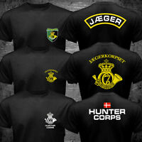 New Dansk Danish Denmark Hunter Corps Special Forces Jaeger Jægerkorpset T-shirt