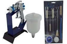 DeVilbiss SLG-610 1.3 Starting Line Gravity Spray Gun + Bench Stand Cleaning Kit