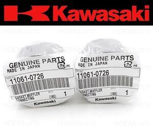 Set of (2) Kawasaki Ninja 1000, Z1000 Exhaust Muffler Silencer Pipe Joint Gasket