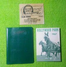 Hollywood Park Turf Club Credentials Wallet 1967