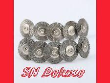 10x Stahldrahtbürste Edelstahl Stahlbürste 25mm für Dremel, Proxxon Multitool