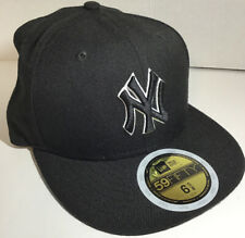 New Era Black New York Yankees Baseball Cap Hat Size 6 5/8 New