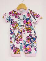 Bonds Baby Short Sleeve Stretchies Balletsuit size 2 Colour Rainbow Garden Pink