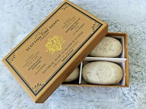 Scottish Fine Soaps Oatmeal Soap Boxed Set of 4 Bars 3.5 oz ea Guests New In BOX