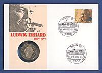 Numisbrief Ludwig Erhard 2 DM -J- 1991 Stempel 1992 #0282 NBA4/64