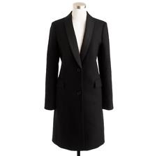 NWT J.Crew Collection Tuxedo Topcoat in Black Wool Blazer Coat 6 $398