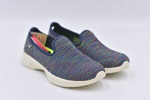 Women's Skechers Go Walk 4 - Select Slip On Sneakers, Navy, 6.5