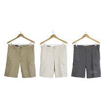 "NWT IZOD Men Flat Front Cargo Shorts Pants 100% Cotton 10.5"" inseam Sz 32-42 $60"