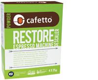 CAFETTO 4 x 25g Sachets DESCALER RESTORE Espresso coffee cleaner ALL BRANDS