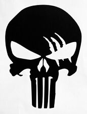 2X PUNISHER AMERICAN FLAG SNIPER SKULL DIE CUT VINYL DECAL STICKER JDM USA DEATH