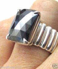 NEW!!! Retired John Hardy Hematite Bedeg Wide Band Ring Sterling Silver