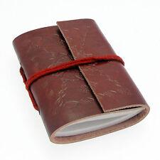 El comercio justo Eco Friendly Hecho A Mano Mini Solo atado de cuero en relieve Notebook