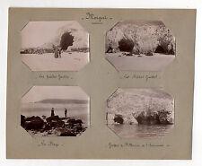 Lot 4 PHOTOS MORGAT Bretagne Grotte de Sainte Marine Plage vers 1900 Crozon