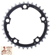 ORIGIN8 RAMPED 104mm 4-BOLT 34T  BLACK ALLOY BICYCLE CHAINRING