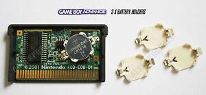 CR1616 Battery Holder for Game Boy Advance (GBA) Cartridges (Set of 3) - UK