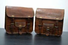 Sacoche de moto sacoche en cuir marron deux sacoches de selle 2 sacs Nouveau