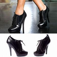 Sexy Nightclub Lace Up Heels Lady 13cm Super High Stiletto Platform Women Shoes