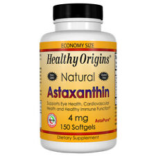 Astaxanthin, 4mg x 150 Softgels, Tendonitis, Liver Spots - Healthy Origins