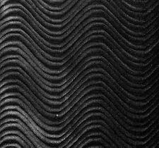 """Black Velvet Swirl Flocking Upholstery Drapery Fabric - BTY - 58"""" / 60"""""""