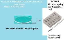 LOT OF 181  MINERAL CRYSTAL BEVELED 2mm Thick from 170 to 350 SEE DESCRIPTION