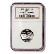 USA Utah State Quarter 2007 S Silver Proof NGC PF 69 Ultra Cameo