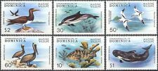 Dominica 1979 Pelican/Dolphin/Whale/Birds/Fish/Marine/Animals/Nature 6v (b2977)