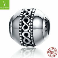 Infinity Element Endless Love Beads fit 925 sterling silver charm bracelet chain