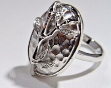 with Satin Fashion Ring Fancy Sterling Silver Simulated Diamond