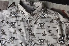 NWT Woolrich -Sz L Men's Peasant Bird Hunting Dogs Preppy Outdoor Cotton Shirt