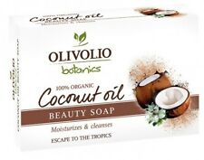 OLIVOLIO NATURAL COCONUT OIL BEAUTY BAR SOAP FOR HAIR, SKIN & FACE BOXED 100gr