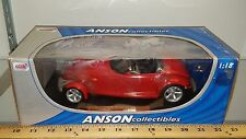 1/18 ANSON COLLECTIBLES 1997 PLYMOUTH PROWLER RED with BLACK INTERIOR rd