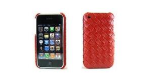 Coque Arrière (Rouge Tressé) ~ Apple iPhone 3G / iPhone 3GS