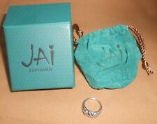 John Hardy JAI Ring 14K Gold & Sterling Silver Size 7 With Box
