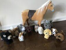 American Girl Horse Dogs Cat Pet Lot Of 12 Kaya bear Maryellen dog