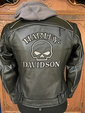 Harley Davidson Women Reflective Willie G Skull Leather Jacket 3in1 98152-09VW M