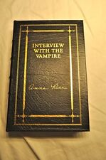 ANNE RICE INTERVIEW WITH THE VAMPIRE, leather bound collectors edition, signed