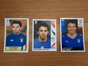 Panini Alessandro Del Piero World Cup Euro Football Sticker Italy 2000 2006 2008