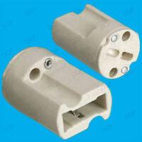 2x G9 Base Ceramic Lamp Holder Socket, Halogen LED Light Bulb Down Light Fitting