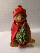 Vintage Schmid Teddy Bear Christmas Tree Music Box Id #312 Musical Made in Japan