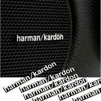 6 x Harman Kardon Car Audio Lautsprecher 3D Aluminium Abzeichen Emblem Aufkleber