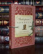 Complete Illustrated Shakespeare's Sonnets Poems New Collector's Gift Hardcover